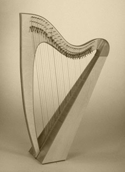 New lever harp Blondel, Avalon, Glastonbury, Albion